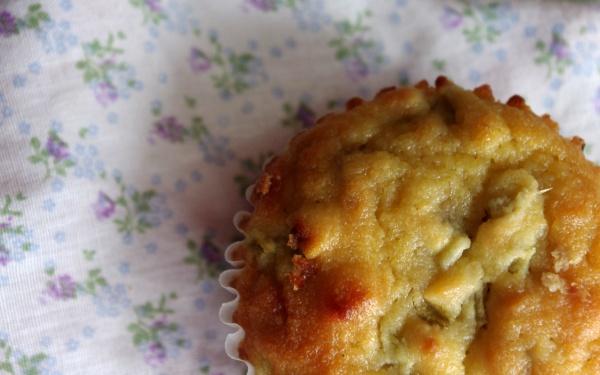 Coconut Flour Rhubarb Muffins
